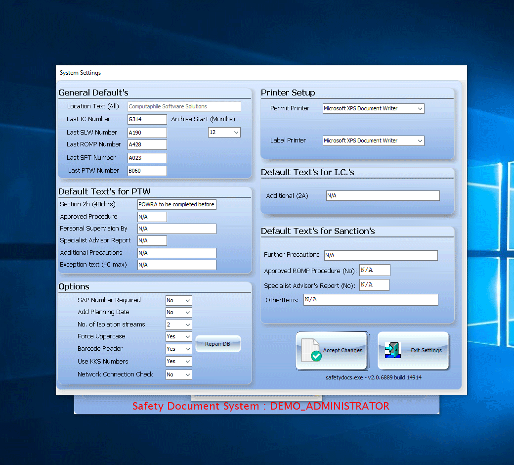 systemsettings